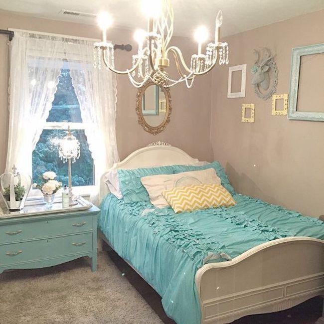 Decoracao quarto vintage azul