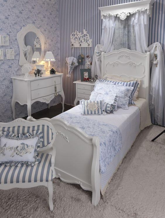 Decoracao quarto vintage branco