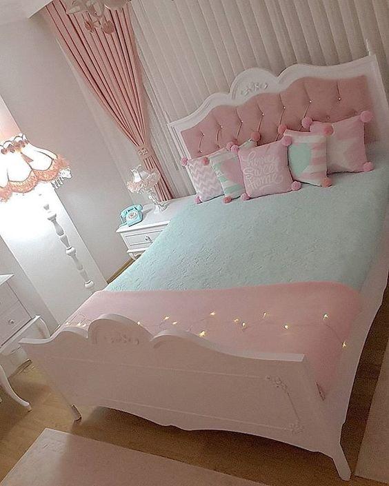 Decoracao quarto vintage rosa