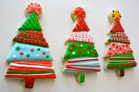 biscoitos natal decorados arvore natal