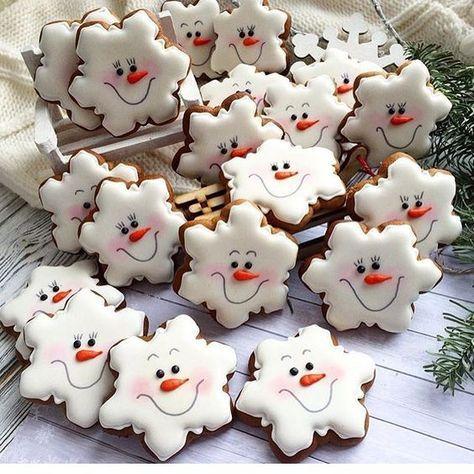 biscoitos natal decorados boneco neve