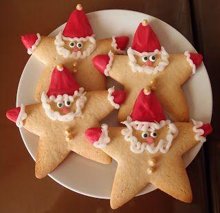 biscoitos natal decorados estrela