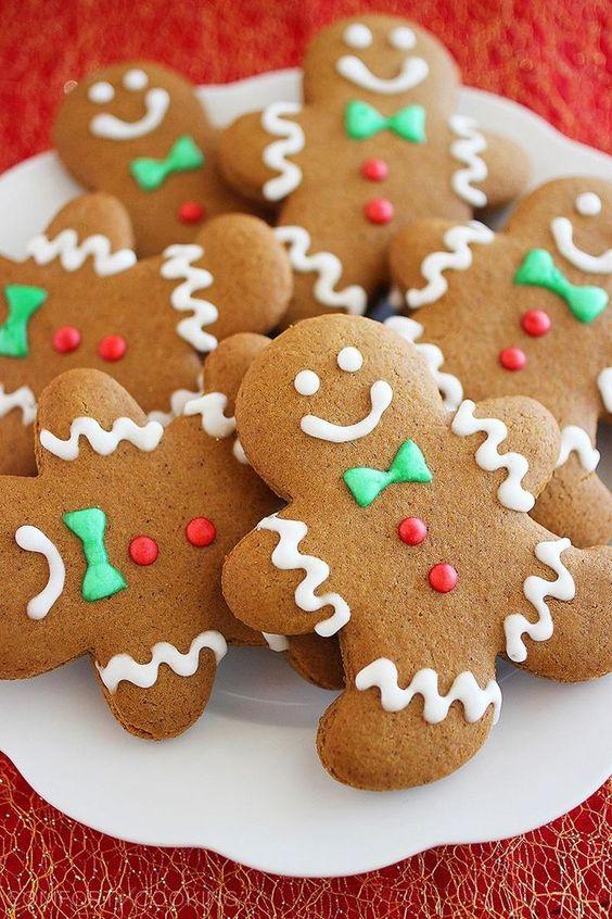 biscoitos natal decorados gengibre