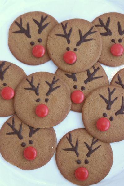biscoitos natal decorados rena