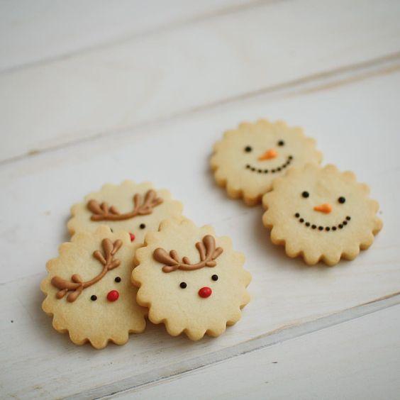 biscoitos natal decorados simples