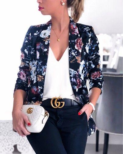 blazer floral dicas modelos 10