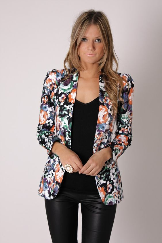 blazer floral dicas modelos 3