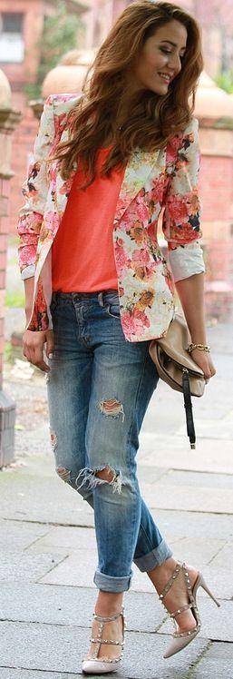blazer floral dicas modelos 5