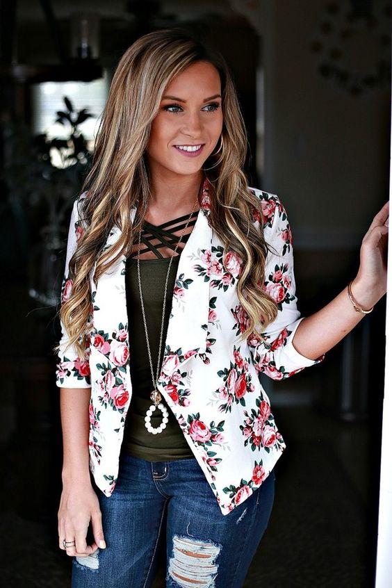 blazer floral dicas modelos 6