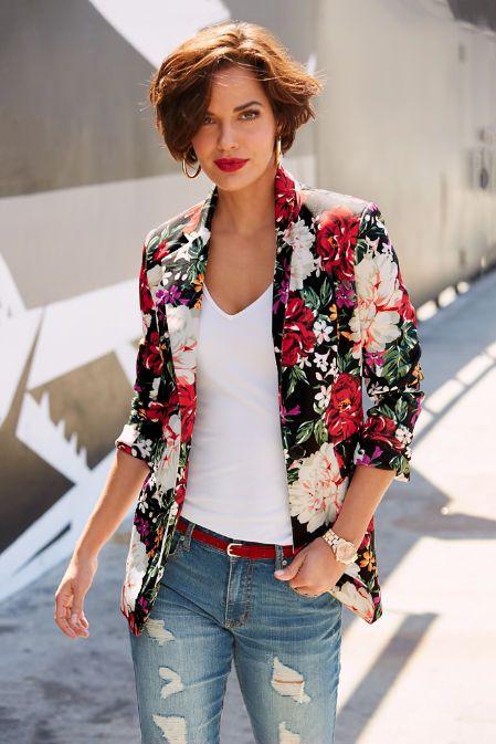 blazer floral dicas modelos 9