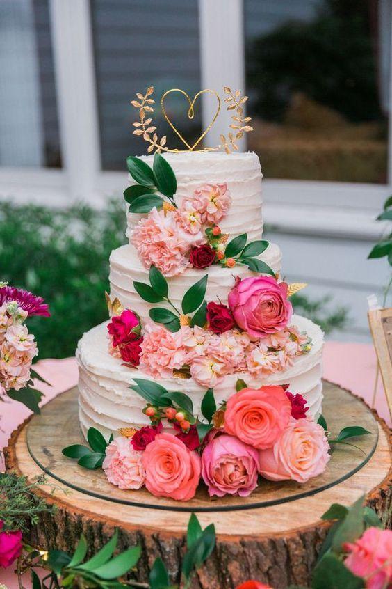 bolo noiva branco flores