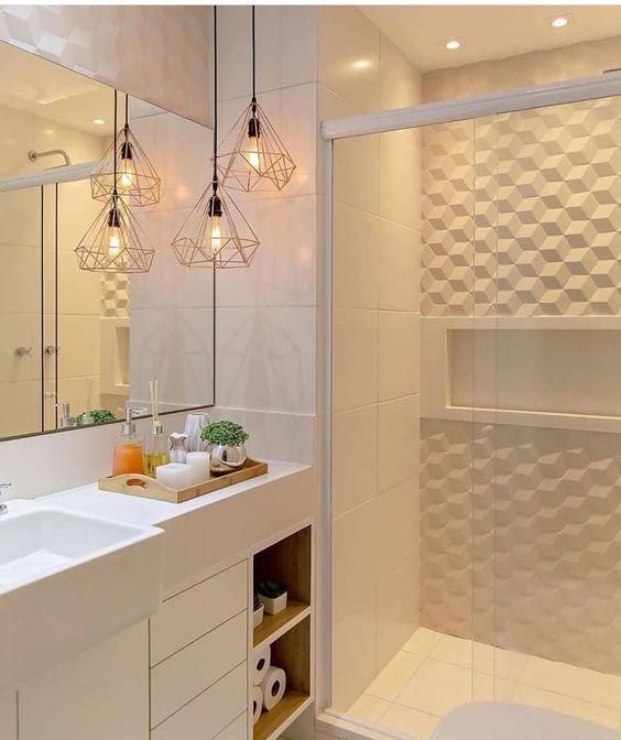 decoracao banheiro casal dourado