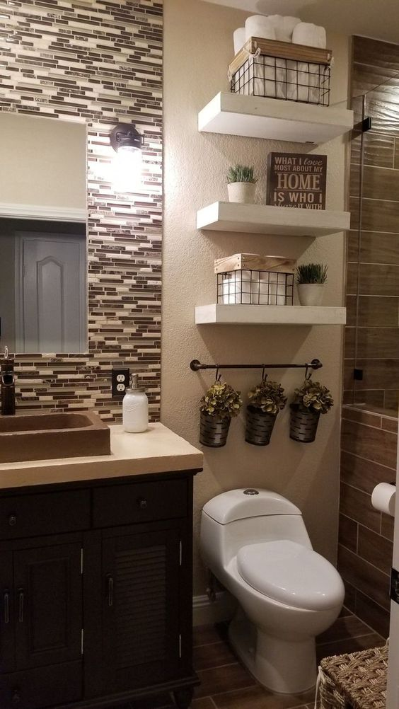 decoracao banheiro pequeno prateleira