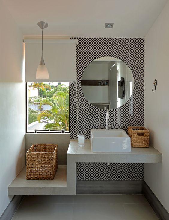 decoracao banheiro preto