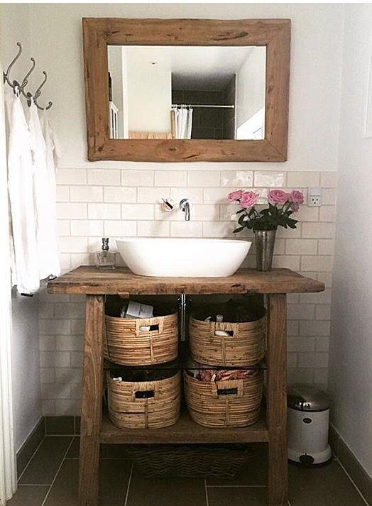 decoracao banheiro rustico espelho