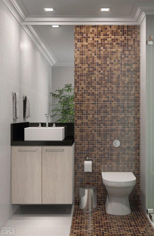 decoracao banheiro simples cor