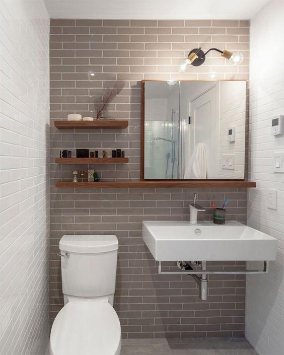 decoracao banheiro simples prateleiras