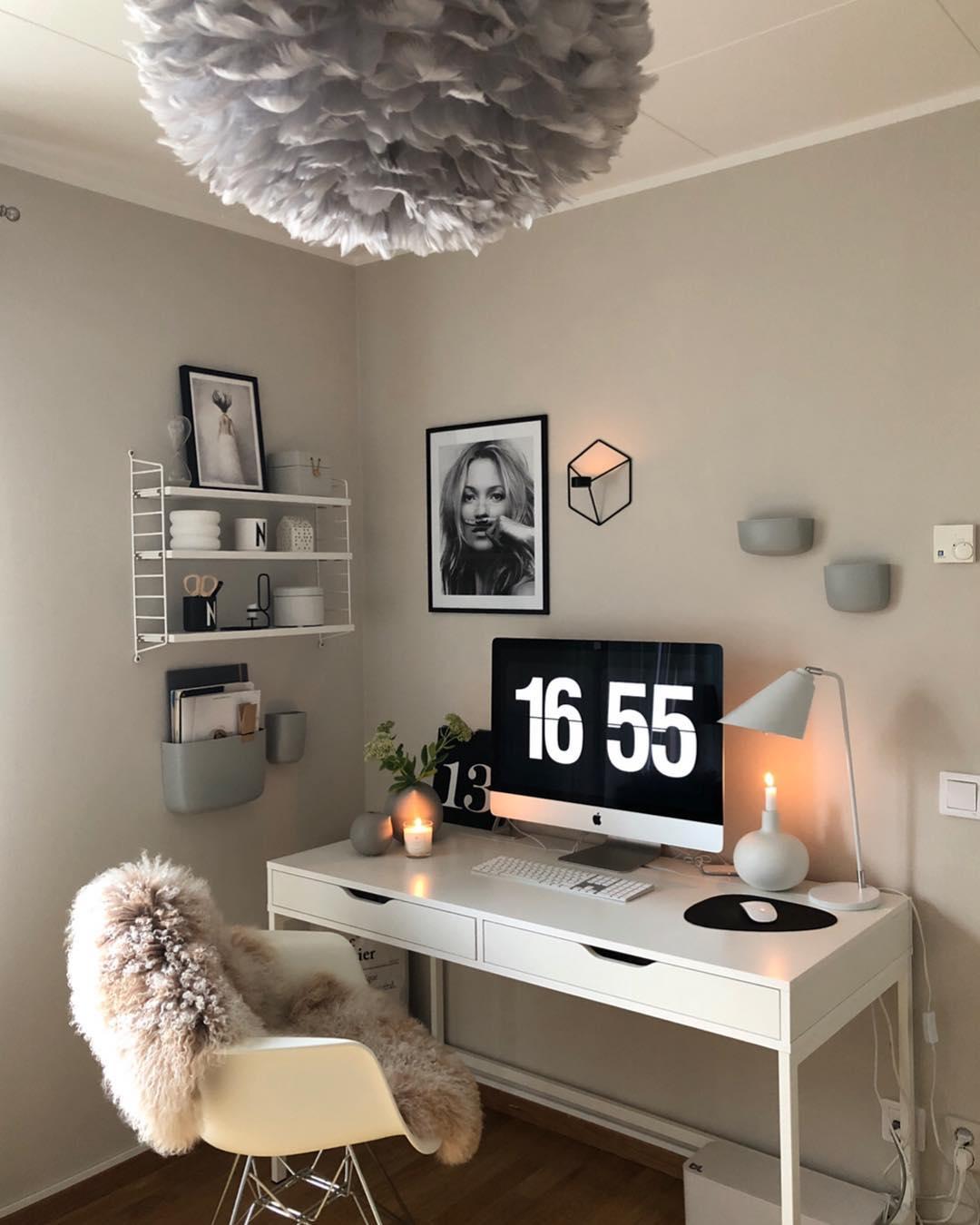 decoracao escritorio moderno branco