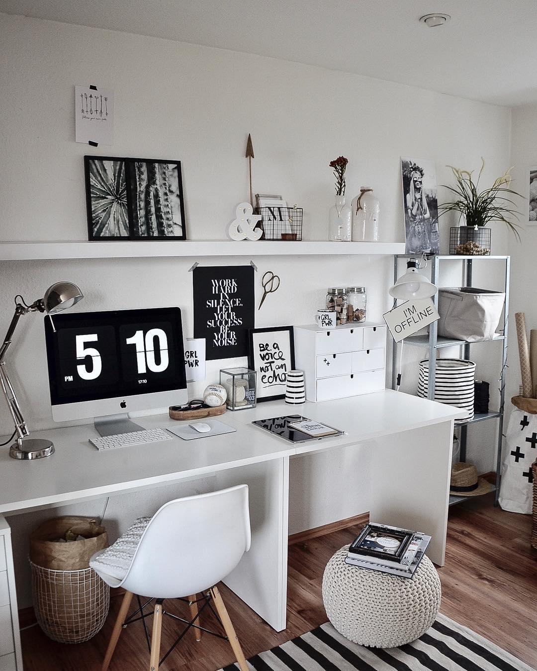 decoracao escritorio moderno feminino