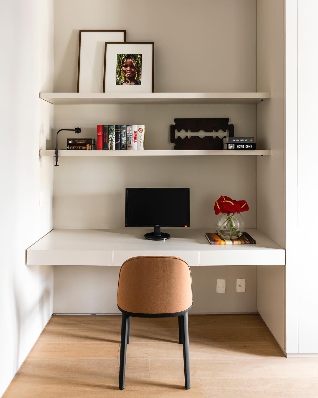 decoracao escritorio simples pequeno