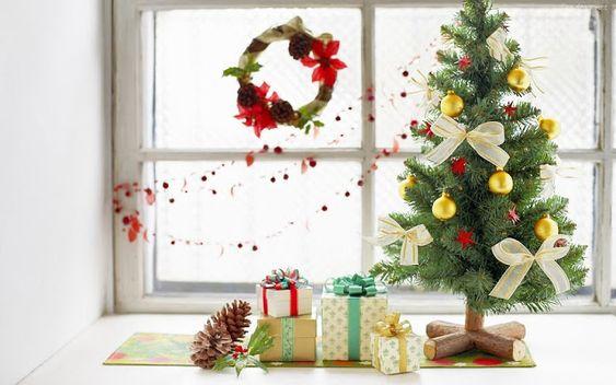decoracao janela natal arvore ideias