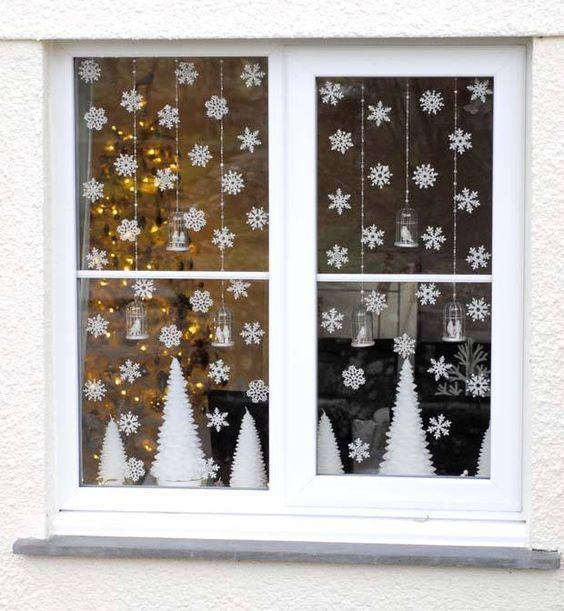 decoracao janela natal arvore