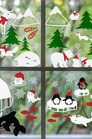 decoracao janela natal moldes diferentes