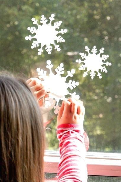 decoracao janela natal moldes estrelas