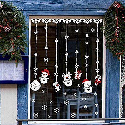 decoracao janela natal moldes