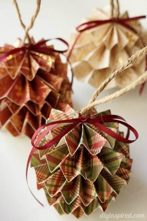 decoracao janela natal origami bolas