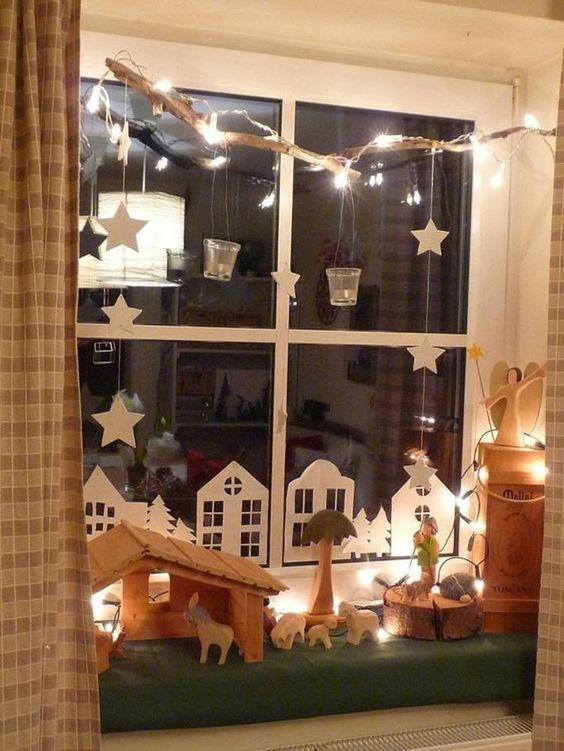 decoracao janela natal presepio 1