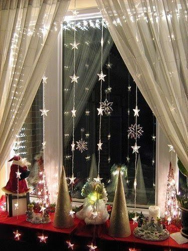 decoracao janela natal presepio