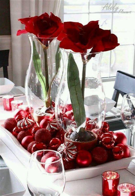 decoracao mesa natal criativa bolas