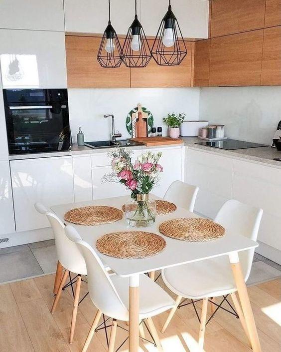 decoracao minimalista cozinha madeira