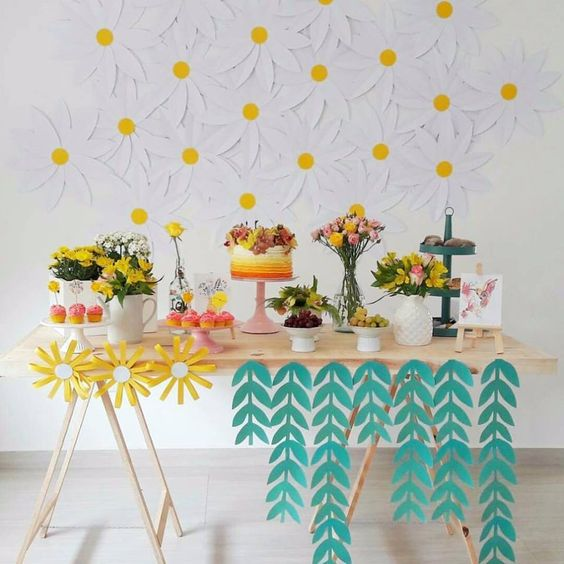decoracao minimalista festa simples