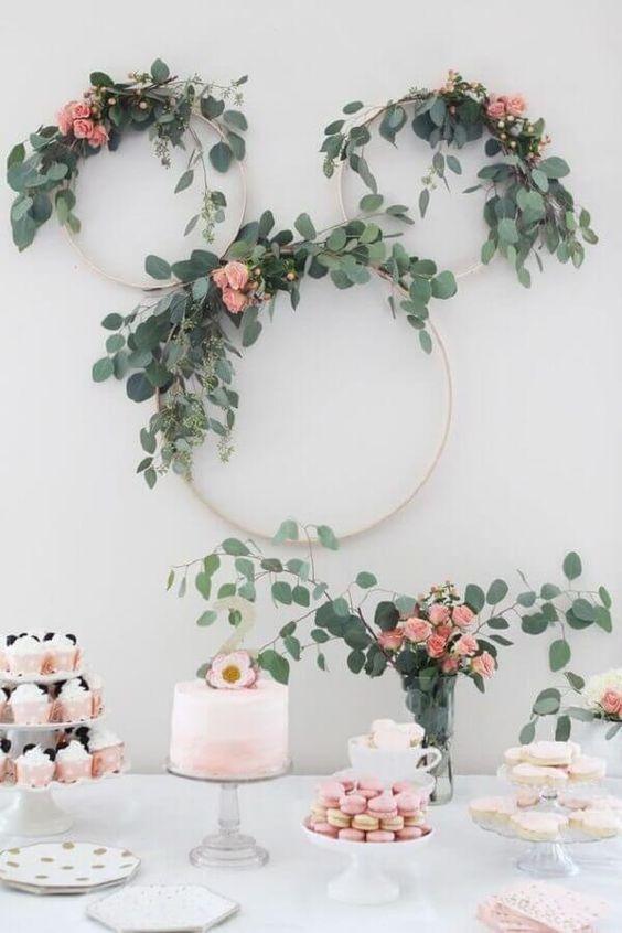 decoracao minimalista festa