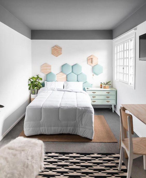 decoracao minimalista quarto adolescente