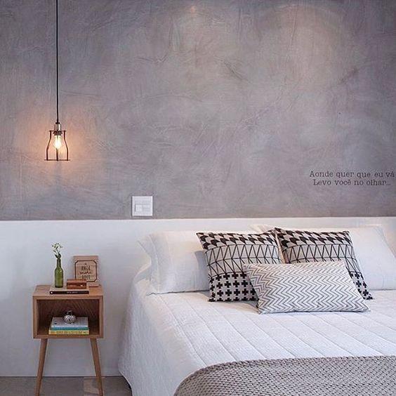 decoracao minimalista quarto cinza
