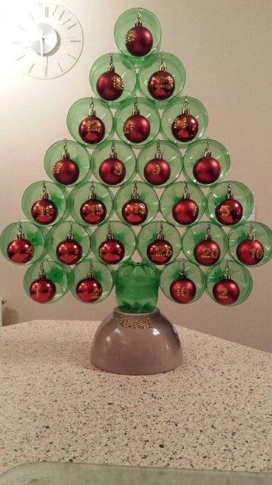 decoracao natal barata garrafa pet