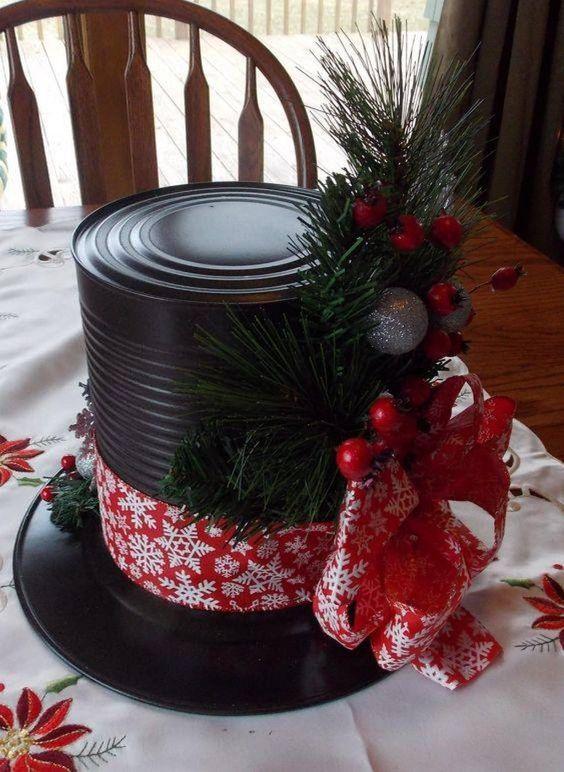 decoracao natal barata lata