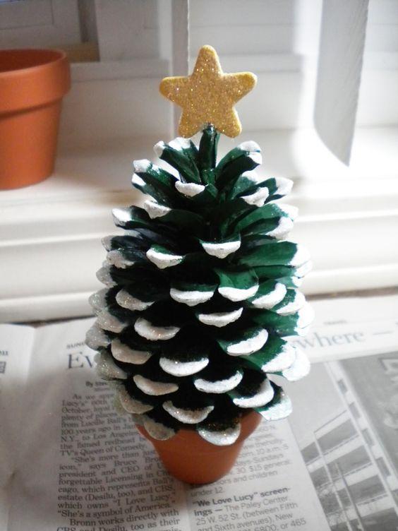 decoracao natal barata pinha