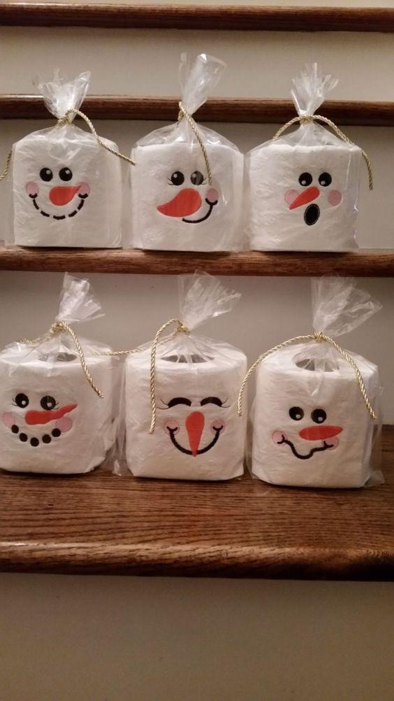 decoracao natal barata rolo papel