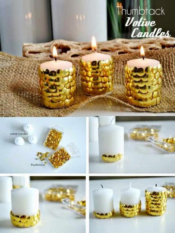 decoracao natal barata velas