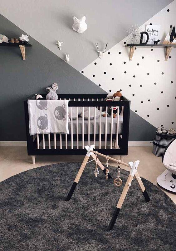 decoracao quarto menino bebe cinza