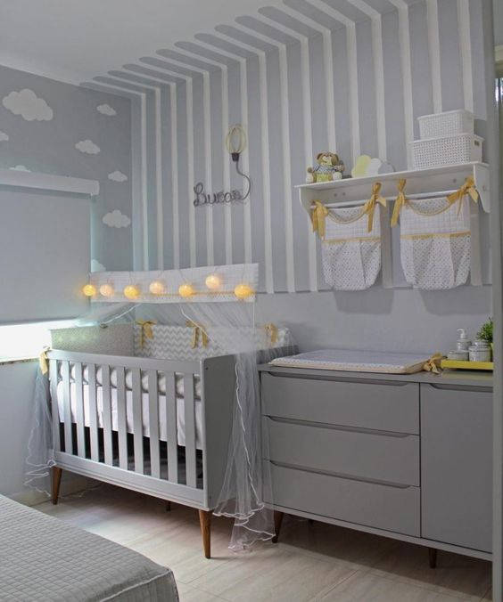 decoracao quarto menino bebe listras