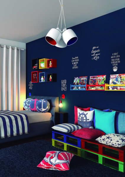 decoracao quarto menino ideias azul