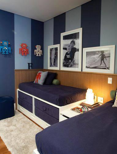 decoracao quarto menino irmaos azul