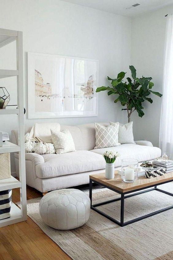 decoracao sala branca