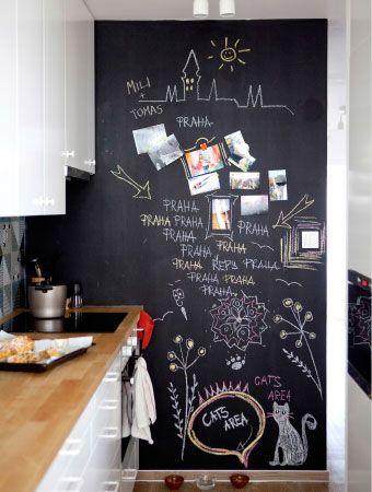 decoracao tinta magnetica cozinha ideias