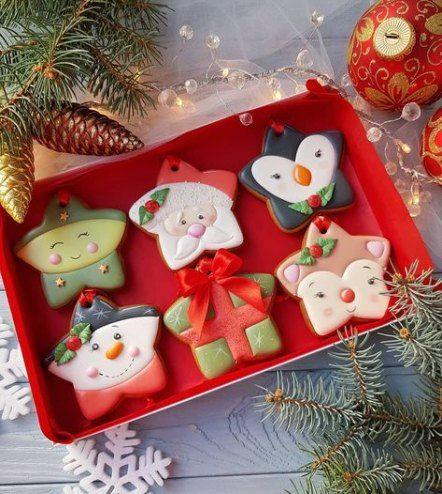 ideias decorar biscoitos natal